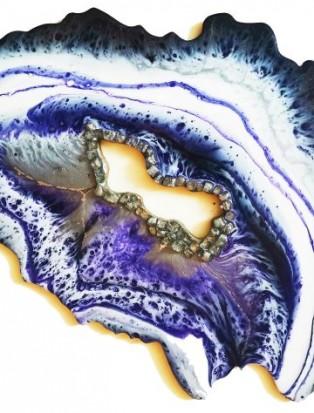Geode Resin Art. Срез камня