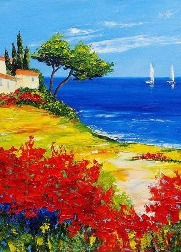 Пейзажи и цветы. Рисуем картину на выбор