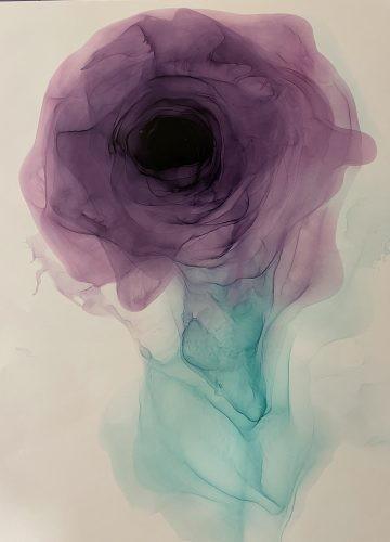спиртовые чернила цветок