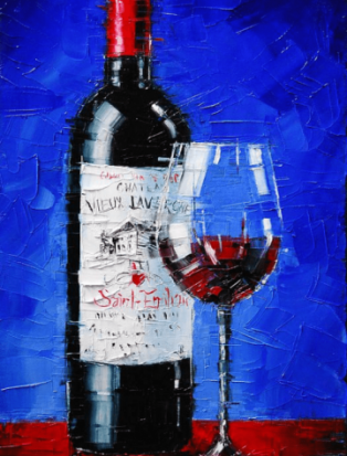 Вино и музыка. Рисуем картину на выбор
