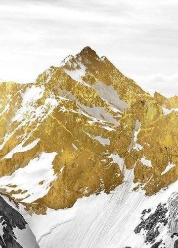 Golden mountain art