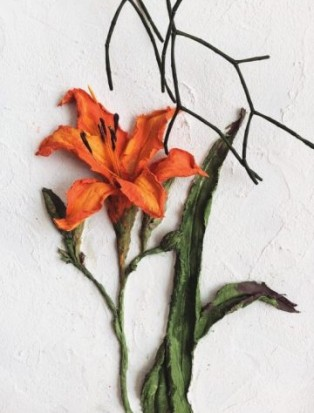 Скульптурная живопись «Лилии»