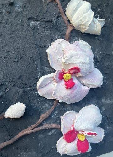 Скульптурная живопись «Орхидеи»