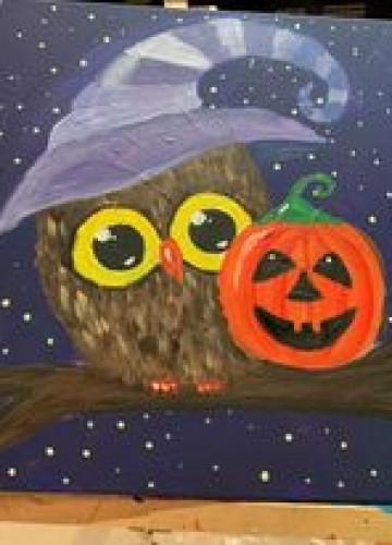 Happy Halloween Owl. Рисуем «Совушку»  с детьми