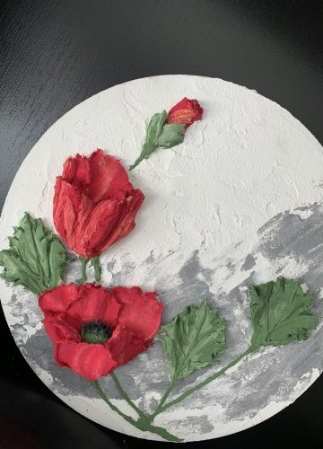 """Sculptural painting """"Poppies"""""""